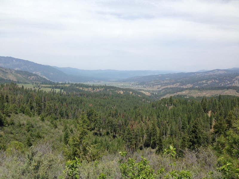The view Northward from the ridge along FS 610.