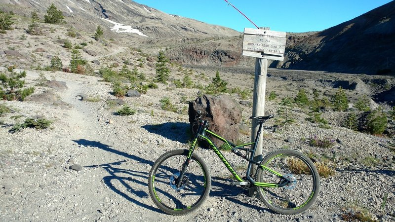 Ape Canyon and June Lake Trail junction--go right to Abrams.