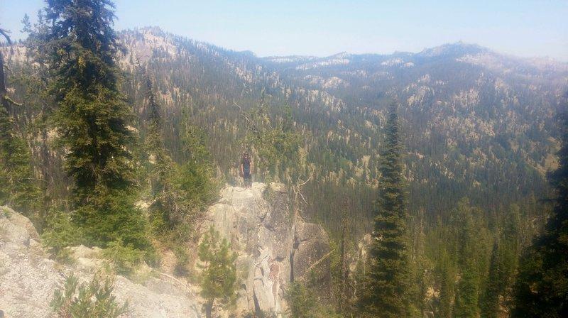 Overlook on Big Creek Summit Trail, Eagle's Nest, right upper corner.