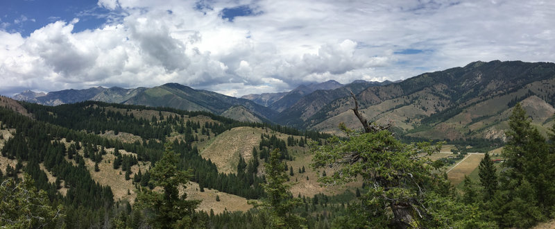 Pano view of the Boulder Mountains.