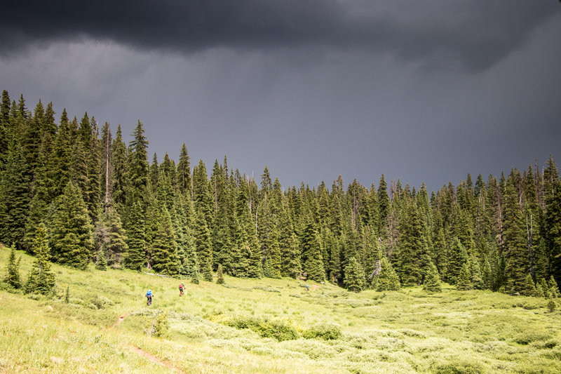 Afternoon thunderstorms are a way of life in Crested Butte in the summer.
