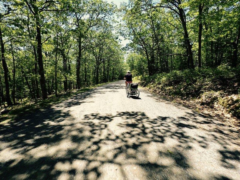 Biking Around the Lake trail.