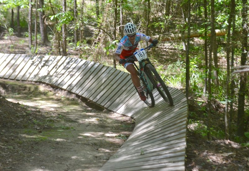 """Flying around the """"Fire Wall"""" wood berm."""