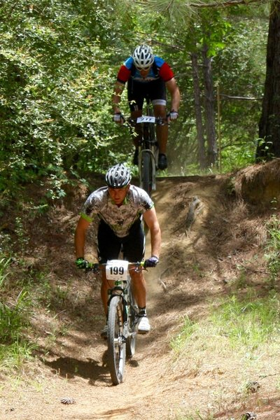 Dropping in the old gravel pit. 2016 Dust N Bones Race