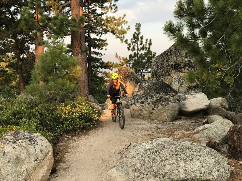 Short climbing section on the Tahoe Rim Trail.