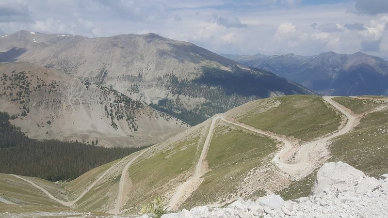 Climbing FS278, approaching 13,000'.  Those switchbacks are actually easier than the road immediately below them.
