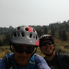 Riding down to Stackrock Ridge.