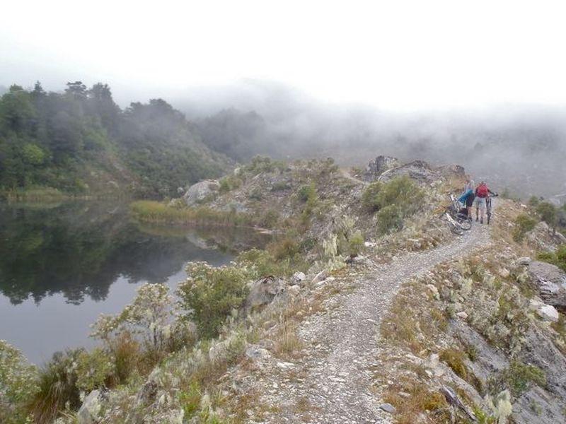 Lake Grim between Stern Hut and Solemn Saddle.