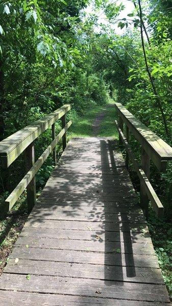 Bridge on Kroger Wetlands trail.