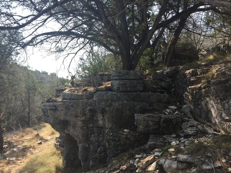 The south trail is just exposed rocks and cactus, not recommended for a summer afternoon