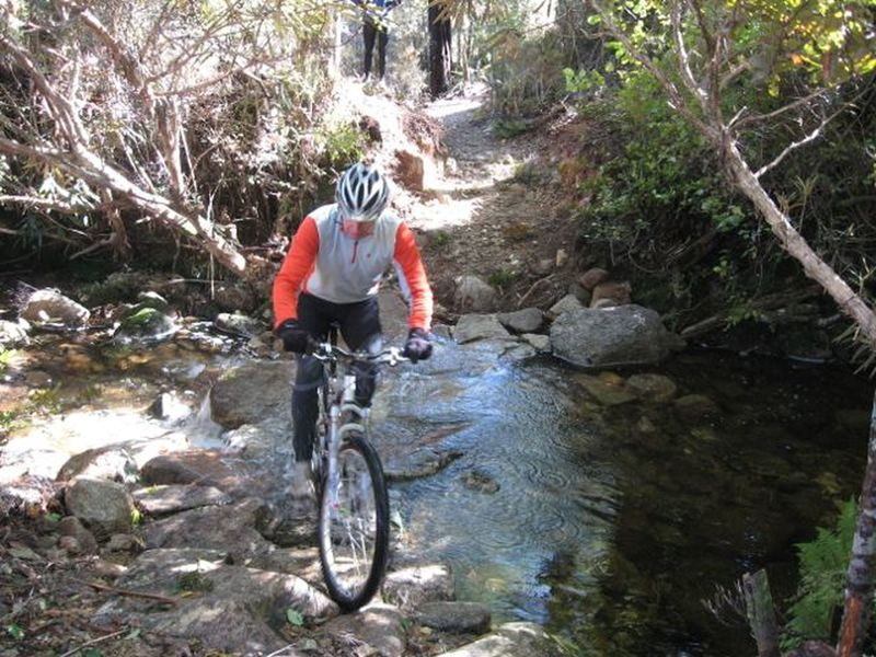 Another challenging creek crossing.