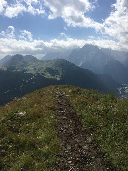 Scenic view from the ridgeline.