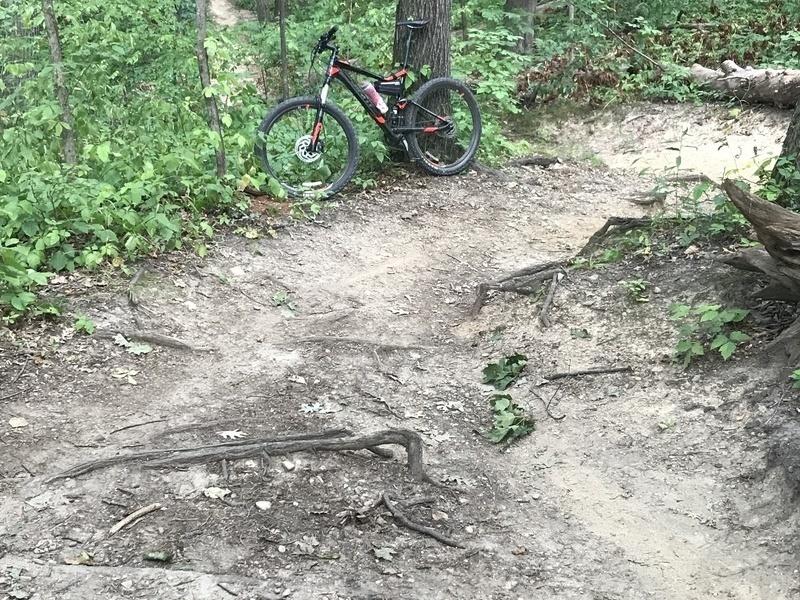 Long, steep climb around mile 6