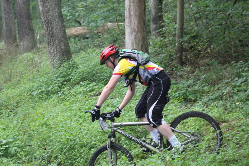 A rider on the Cherry Tree Loop.