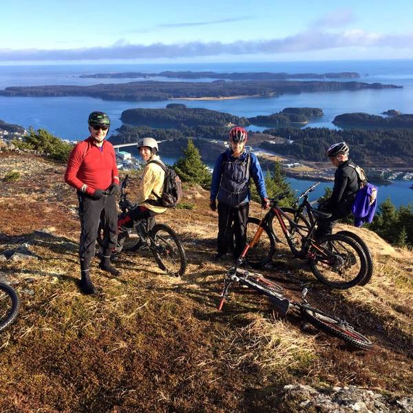 At the top of Kodiak Island's Pillar Mountain late fall