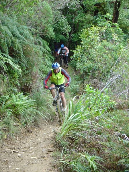 Shredding the track close to the shore, Furneaux Inlet
