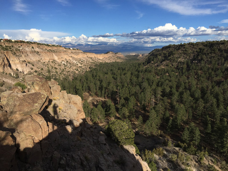 Looking east from the Bayo Canyon Overlook.