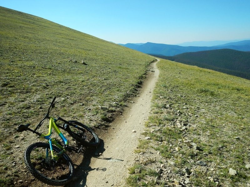 There's something spectacular about riding singletrack above treeline in Colorado!