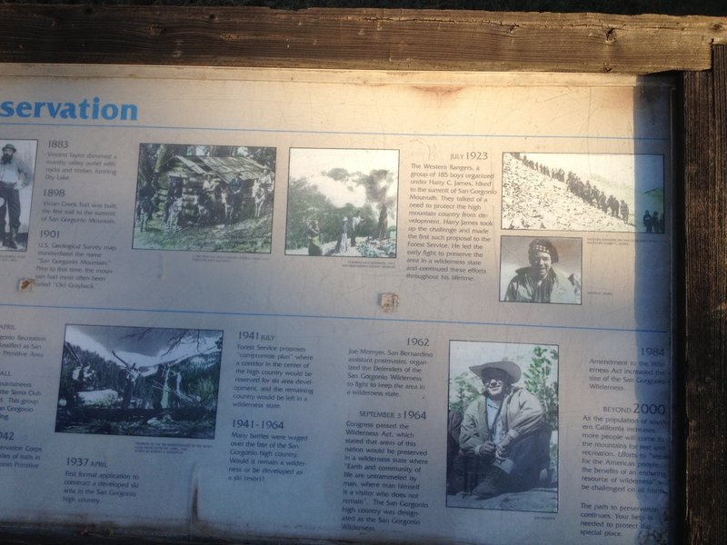 History info located at the top of hiking trail.