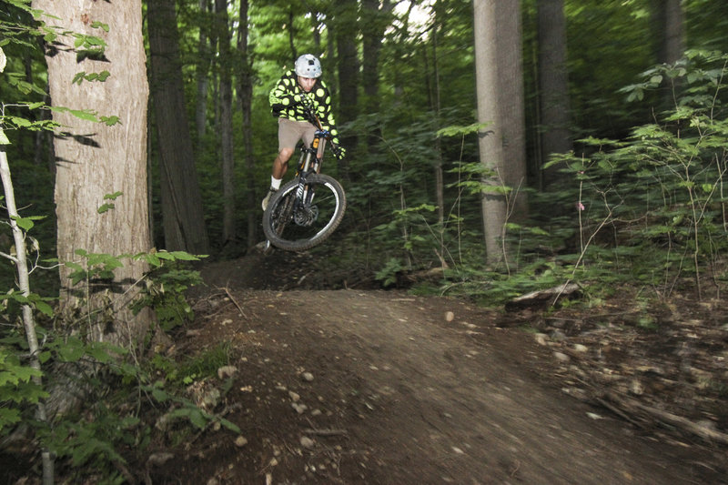 A machine-built jump on the Maple Hill Trail