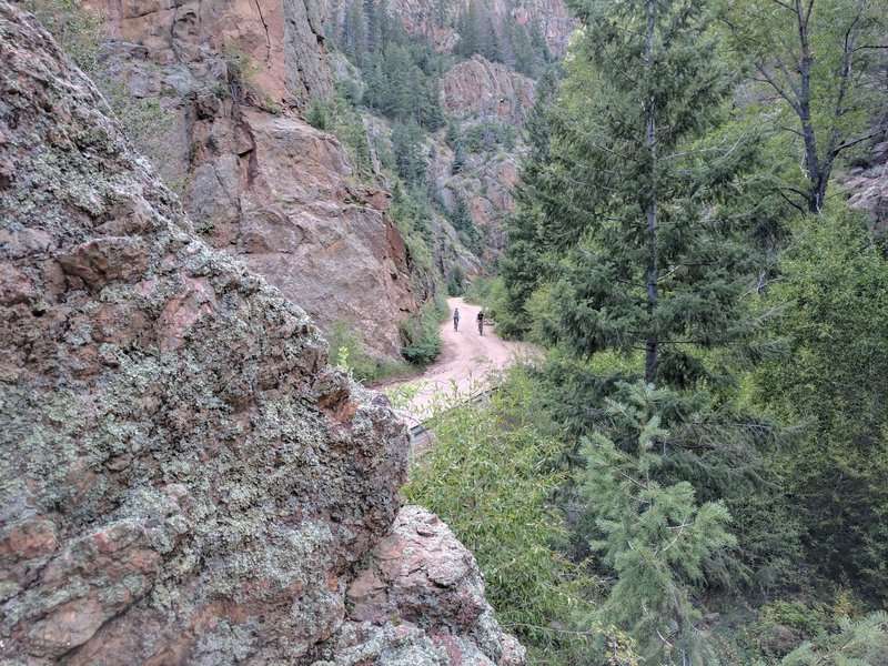 Phantom Canyon Road is hard packed