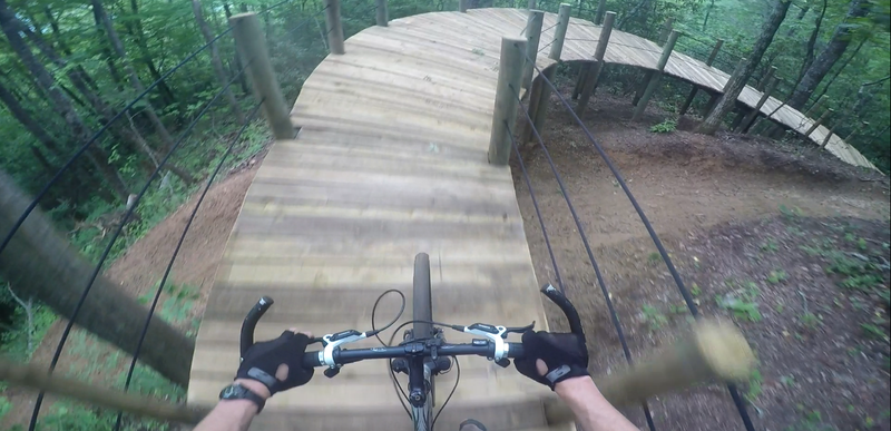 Riding over the bridge on Kessel!