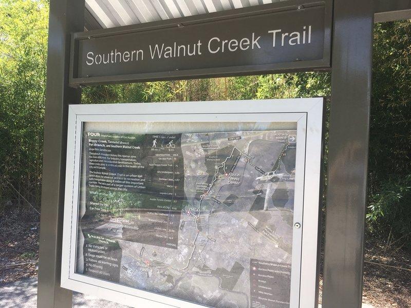 Govalle Park Trailhead Sign