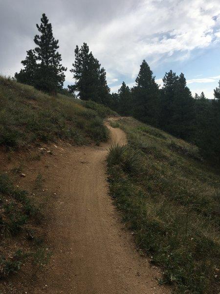 The climbs are gradual.