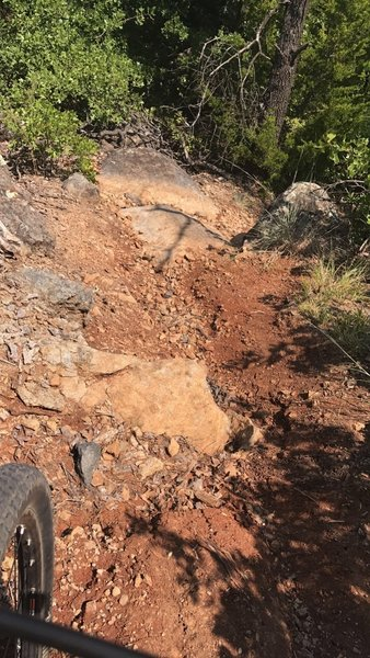 Typical Red Trail treachery at Lake Lawtonka.