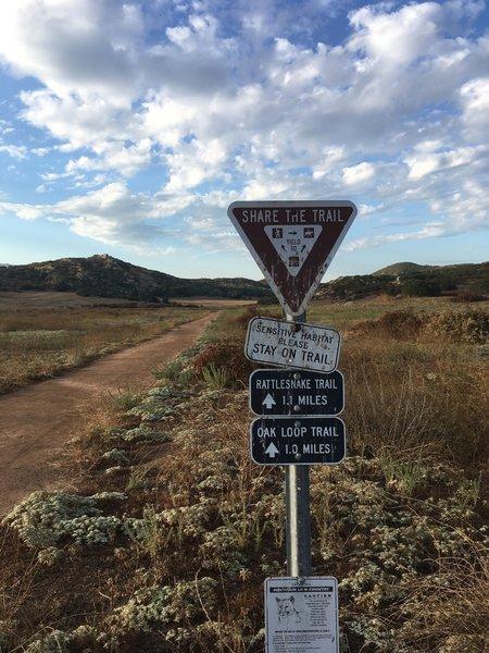 Start of the Rattlesnake Trail.