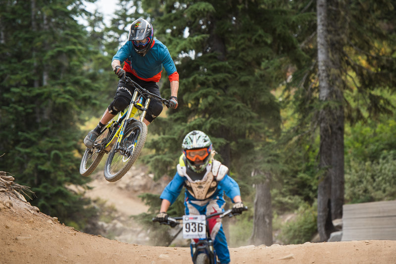 This early jump is one of the most fun on Rock Crusher and a great opportunity to practice your whips.