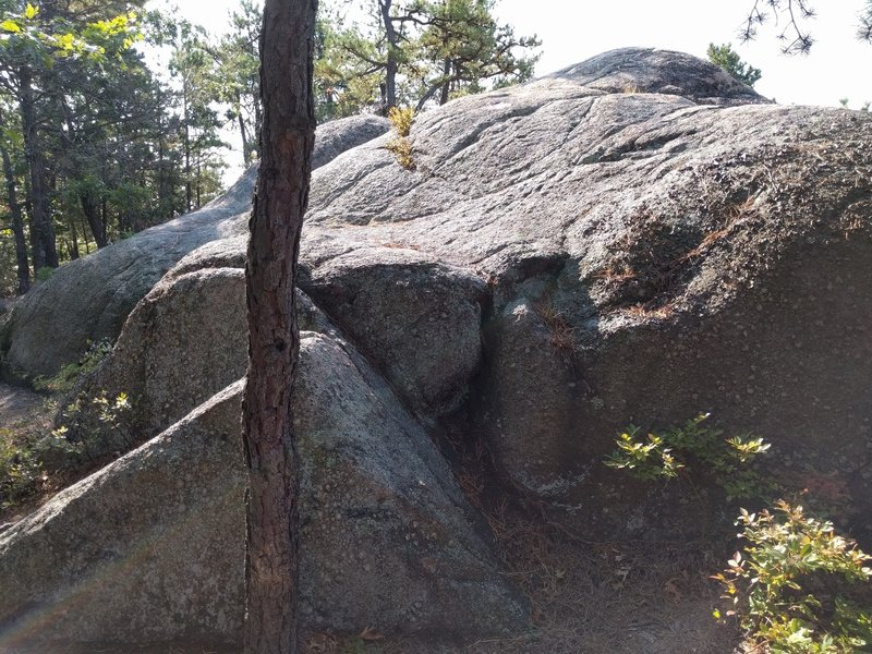 Triangle Rock Drop. You're also welcome to ride up the rock.