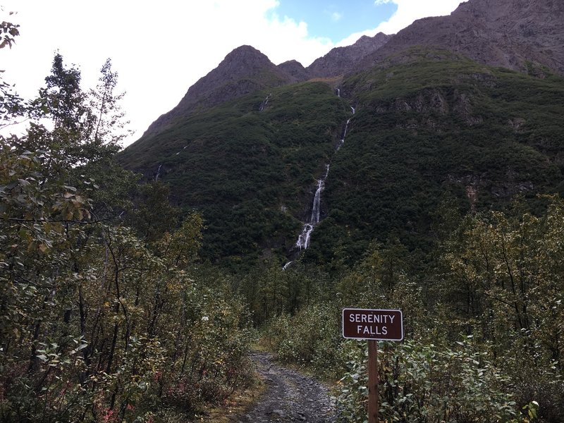Serenity Falls-near the end of the trail.