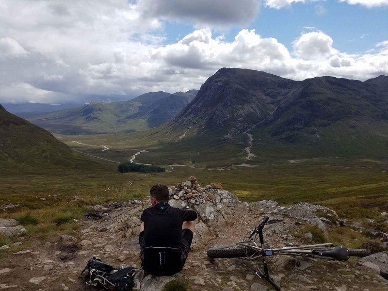 The top of the Devil's Staircase, looking back down to Glencoe.