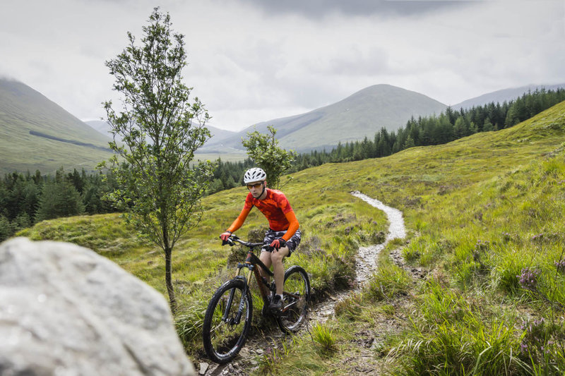 A sweet singletrack section of the West Highland Way.