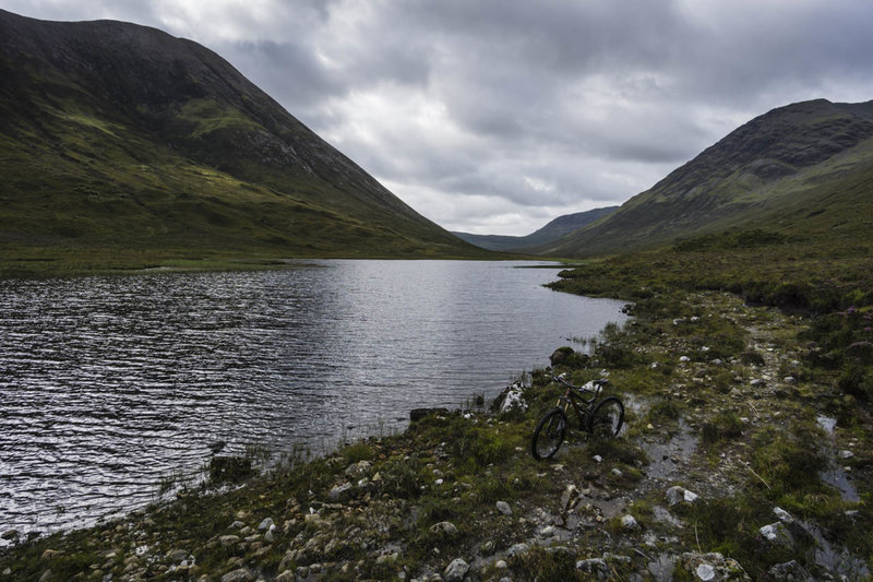 Lochan Sratha Mhoir - The trail may be boggy, but at least it doesn't run through the loch.