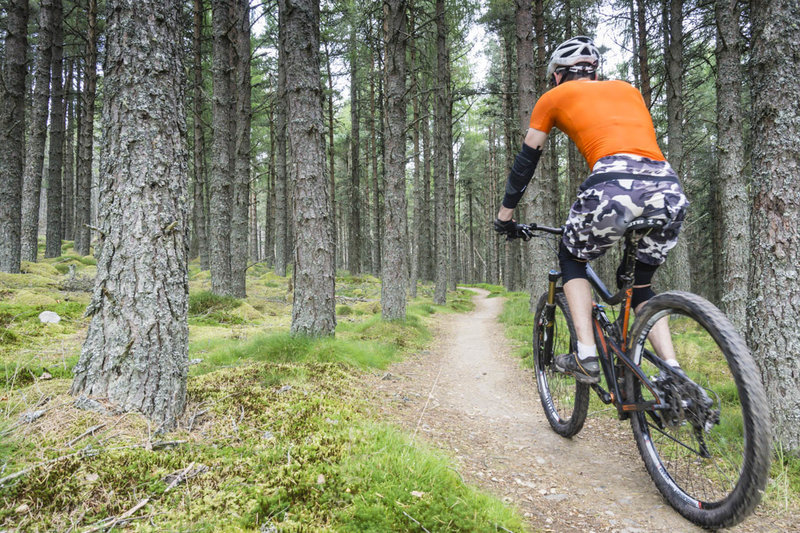 The Glenlivet singletrack is expertly built to fit seamlessly into the forest terrain and the trails are a pleasure to ride.