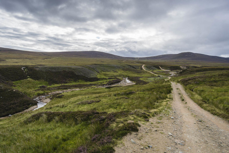 The trail passes through the isolated valley of the River Dulnain.