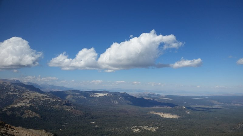 The view from the top. Looking north towards Mono Lake.