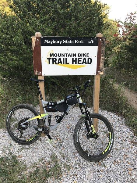 Maybury Mountain Bike Trailhead