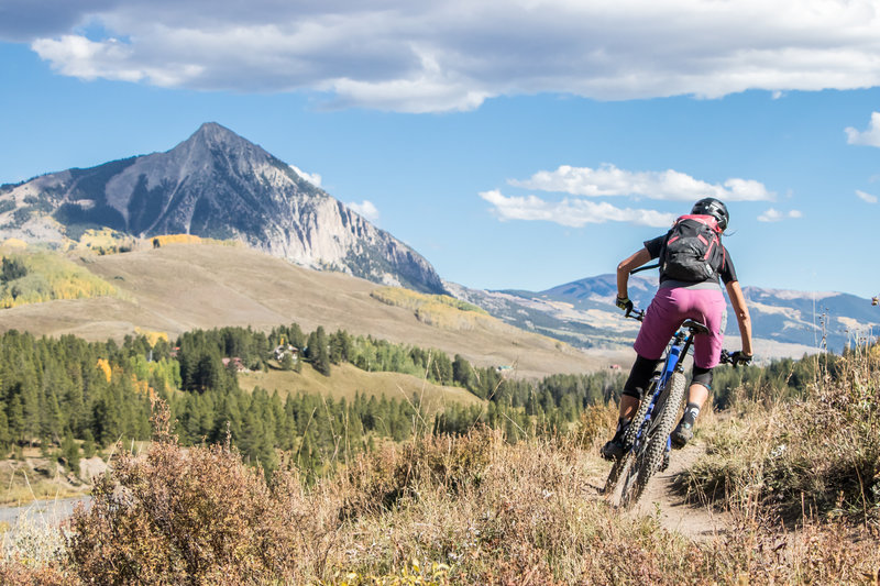 Beautiful views of Mount Crested Butte from the Lower Loop