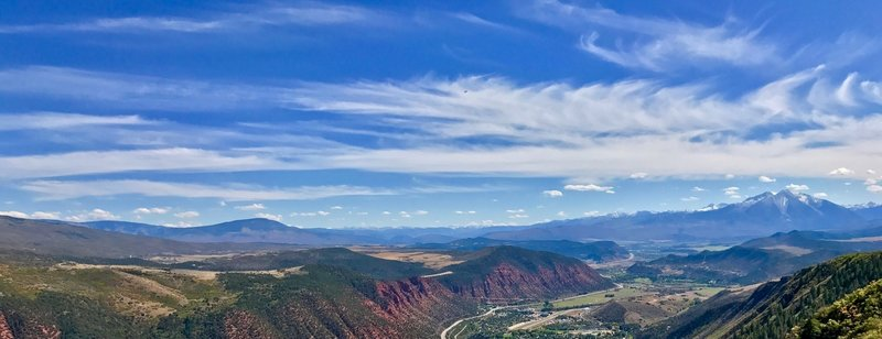 Big panoramic view near the cross on Red Mt. above Glenwood Springs