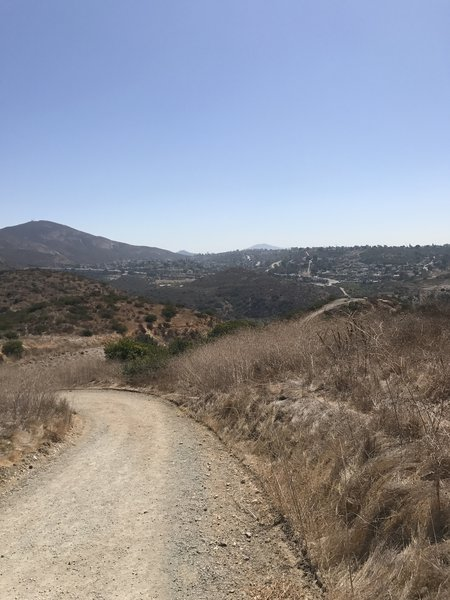 Looking back at the top of SD River Crossing Trail.