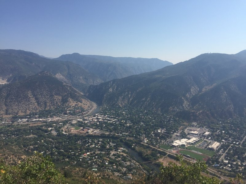 Looking over Glenwood Springs from Red Mountain.
