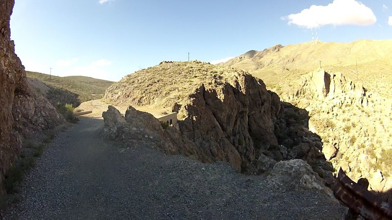 Palisade Canyon at it's deepest point during the initial Jeep road climb