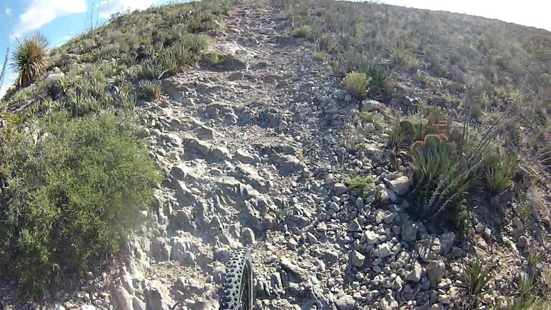 You'll likely be hiking up some of the steepest sections, luckily they are short.