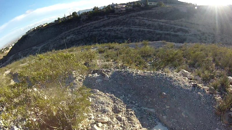 Fast, technical, downhill switchbacks near the end.