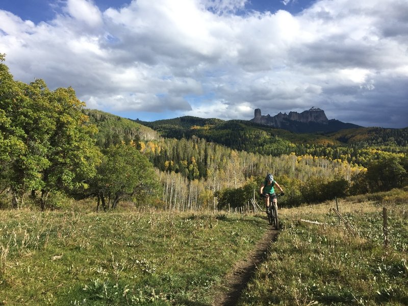 Courthouse Mountain is the perfect backdrop for this scenic trail.