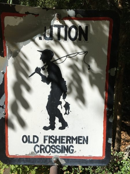 Signage across road from The Bait House.