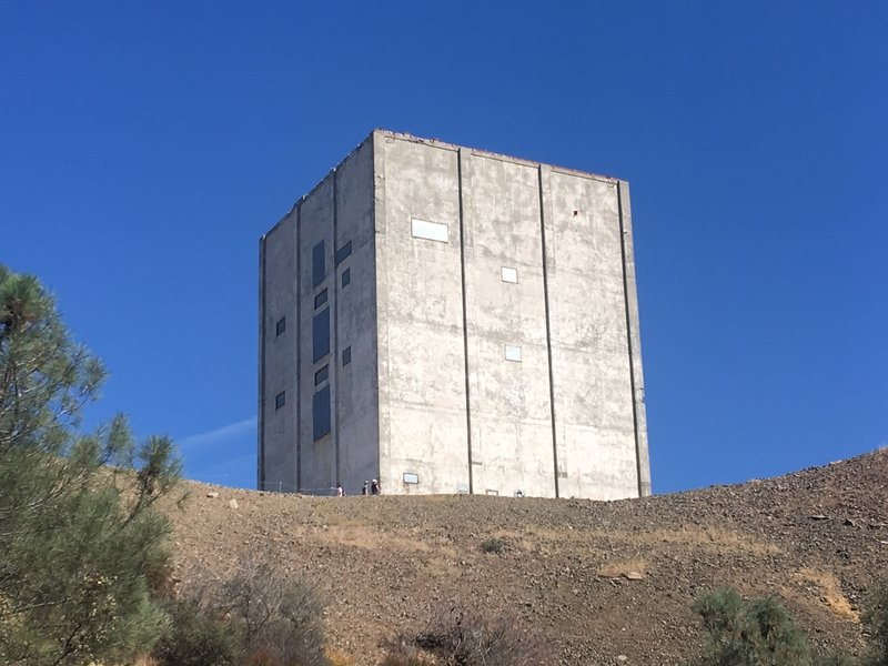 Mount Umunhhum's Airforce Radar Tower was in use 1957-1980. This iconic structure is visible from many places in the South Bay Area.